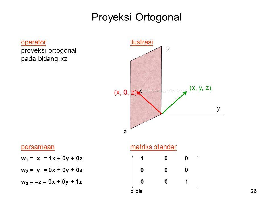 Proyeksi Ortogonal operator ilustrasi proyeksi ortogonal z