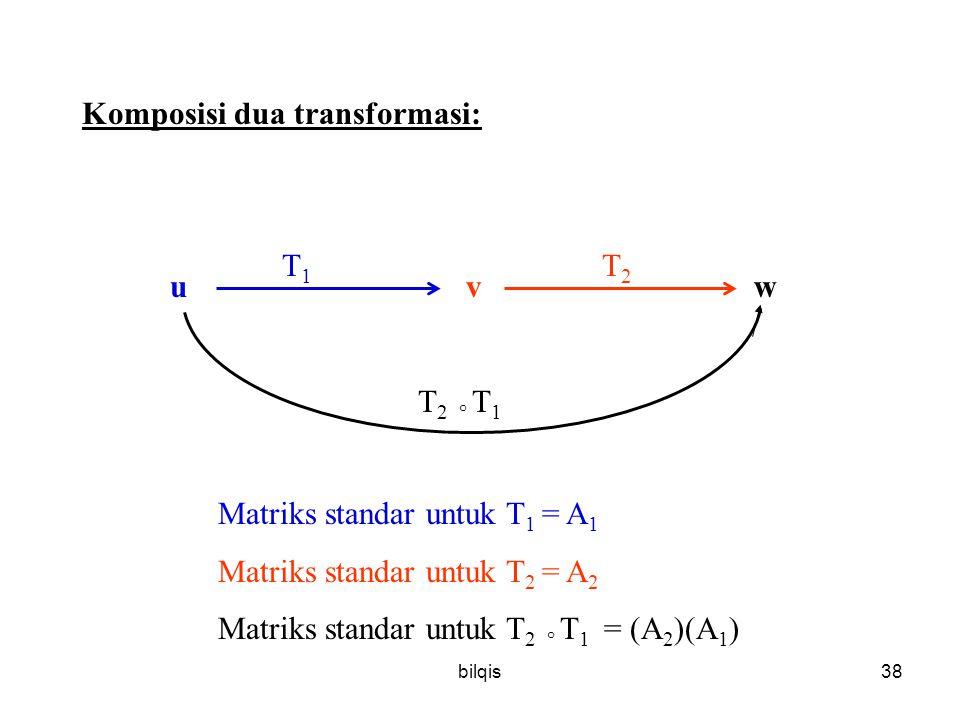 Komposisi dua transformasi: