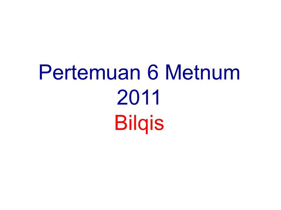 Pertemuan 6 Metnum 2011 Bilqis