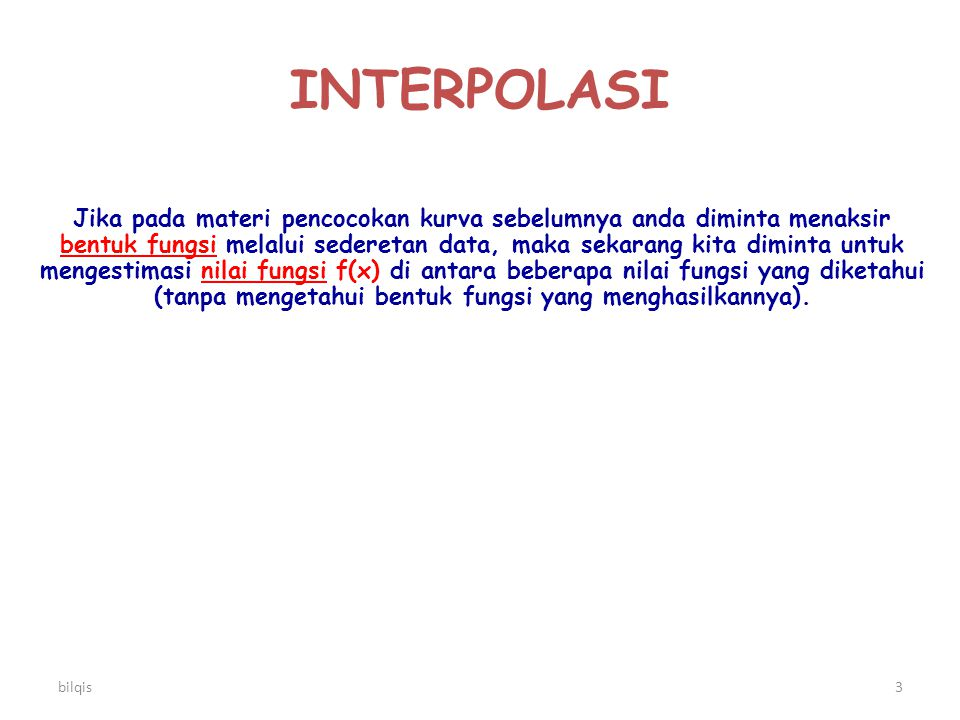INTERPOLASI