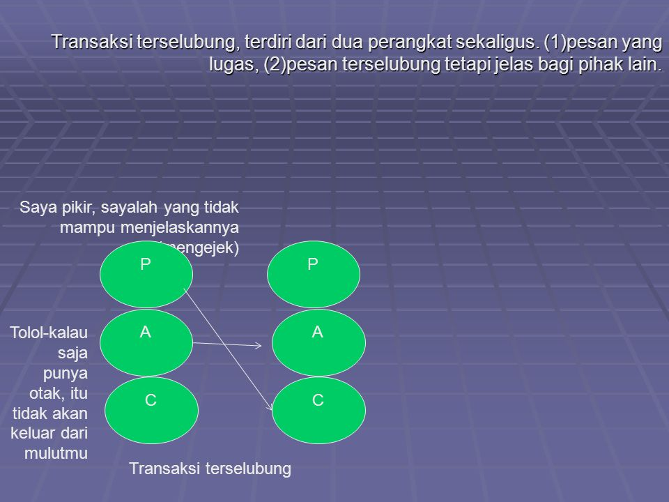 Transaksi terselubung, terdiri dari dua perangkat sekaligus