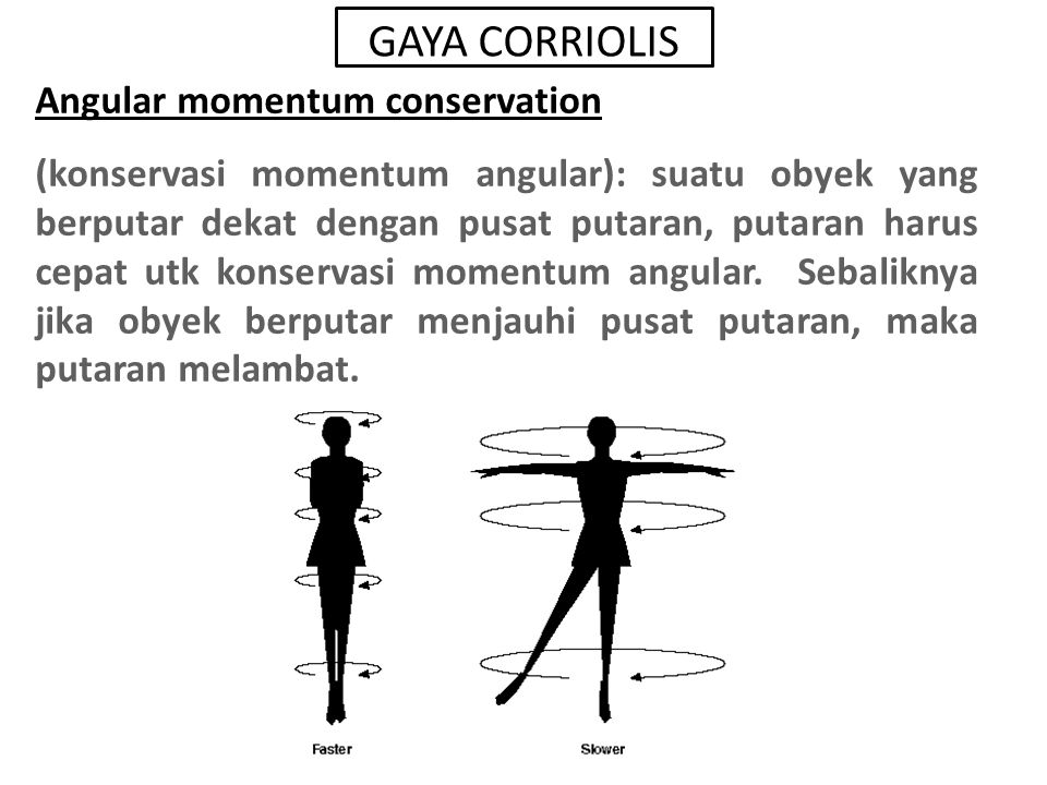 GAYA CORRIOLIS Angular momentum conservation