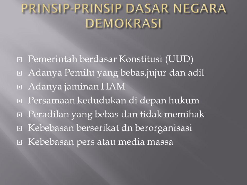 PRINSIP-PRINSIP DASAR NEGARA DEMOKRASI