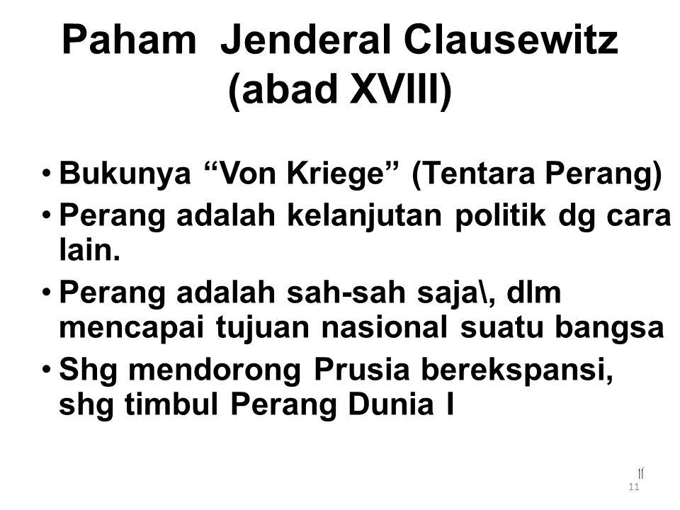 Paham Jenderal Clausewitz (abad XVIII)