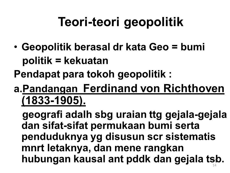Teori-teori geopolitik