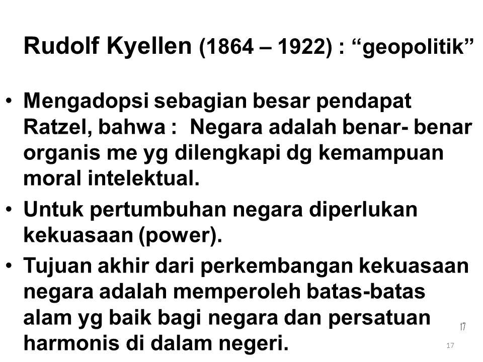 Rudolf Kyellen (1864 – 1922) : geopolitik