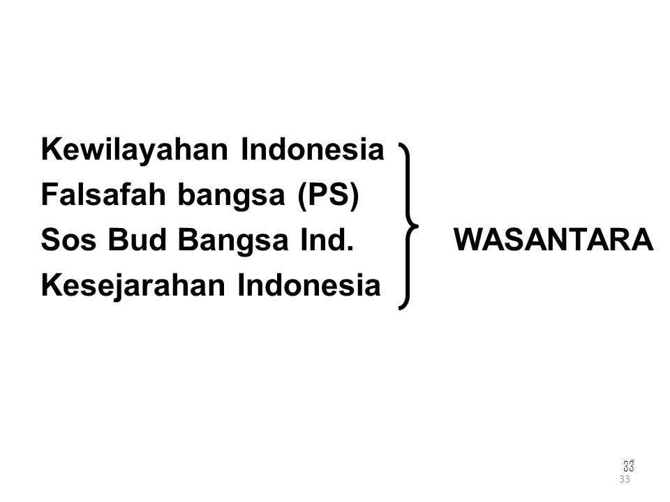 Kewilayahan Indonesia Falsafah bangsa (PS)