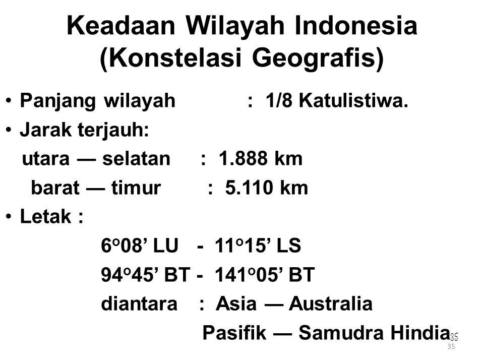 Keadaan Wilayah Indonesia (Konstelasi Geografis)