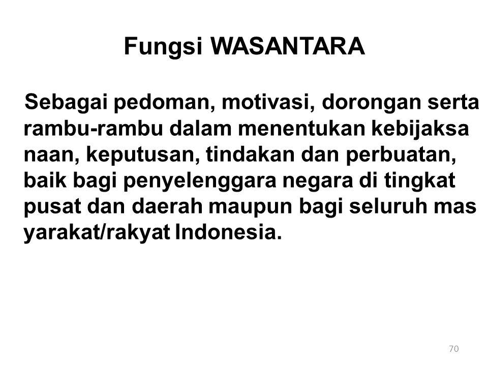 Fungsi WASANTARA