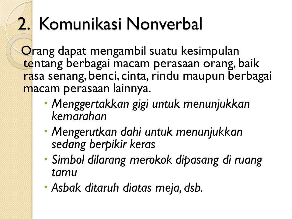 2. Komunikasi Nonverbal
