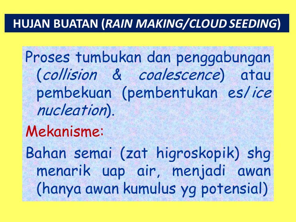 HUJAN BUATAN (RAIN MAKING/CLOUD SEEDING)