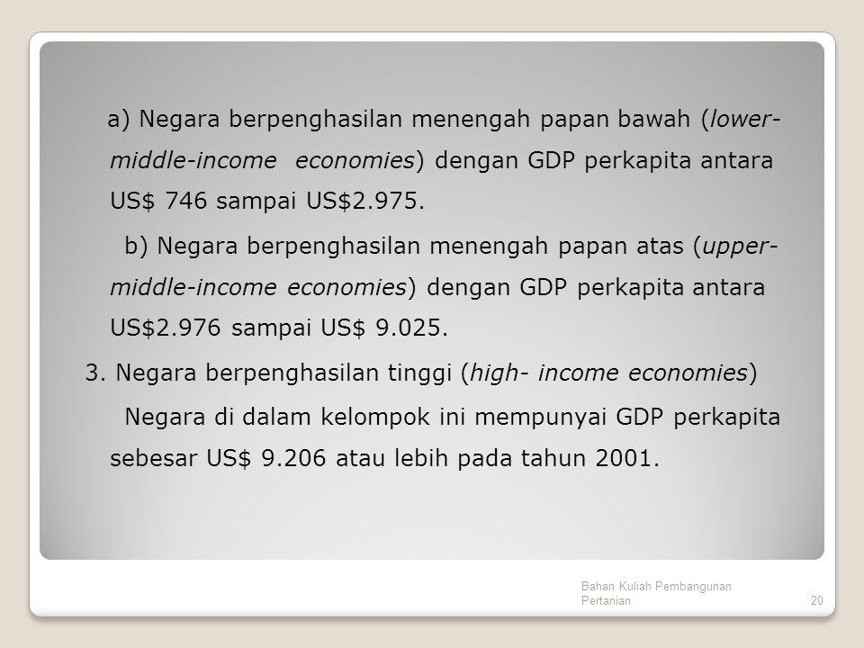 3. Negara berpenghasilan tinggi (high- income economies)
