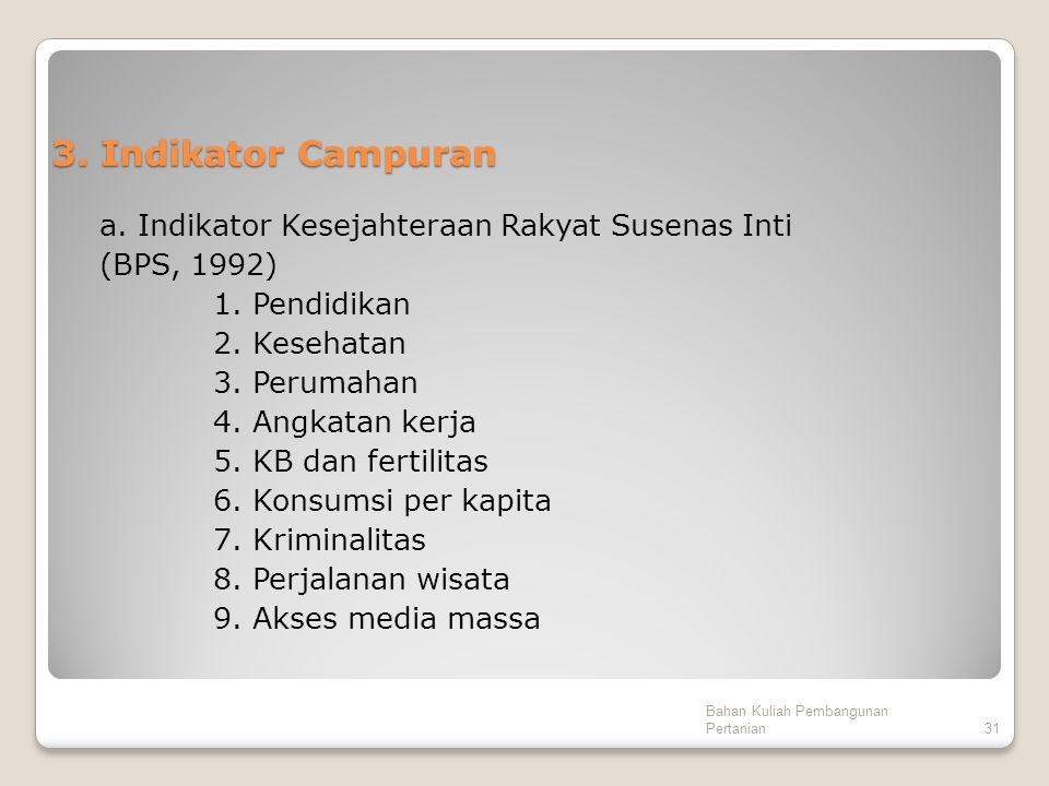 3. Indikator Campuran