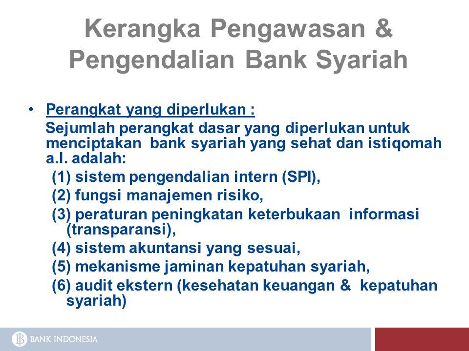 Kerangka Pengawasan & Pengendalian Bank Syariah