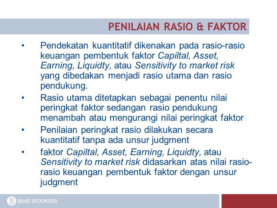 PENILAIAN RASIO & FAKTOR