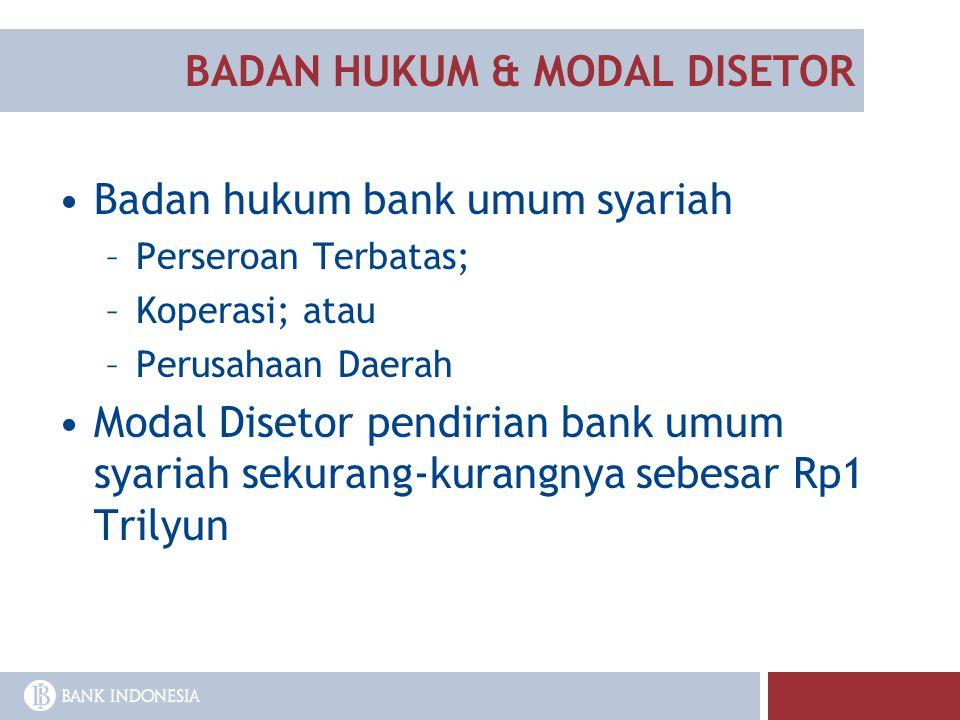 BADAN HUKUM & MODAL DISETOR