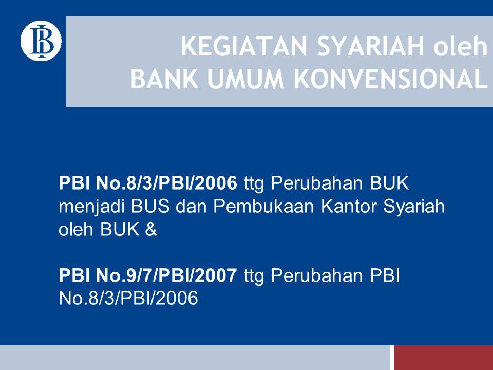 KEGIATAN SYARIAH oleh BANK UMUM KONVENSIONAL