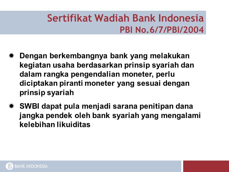 Sertifikat Wadiah Bank Indonesia PBI No.6/7/PBI/2004