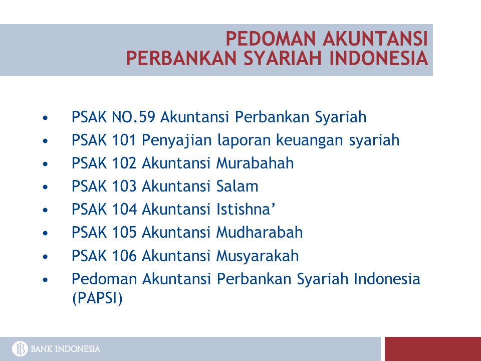 PEDOMAN AKUNTANSI PERBANKAN SYARIAH INDONESIA