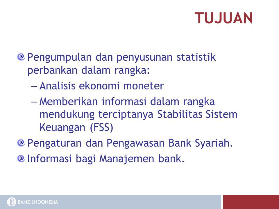 TUJUAN Pengumpulan dan penyusunan statistik perbankan dalam rangka: