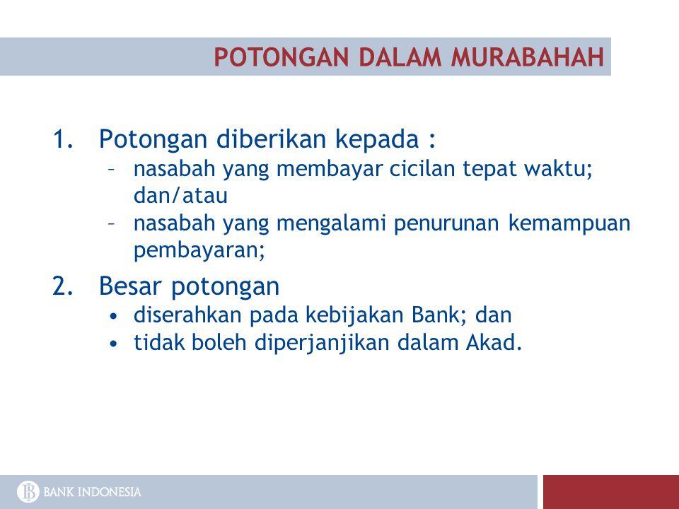 POTONGAN DALAM MURABAHAH