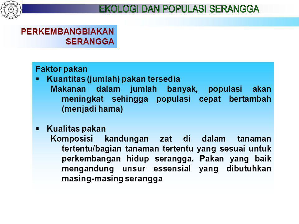 EKOLOGI DAN POPULASI SERANGGA