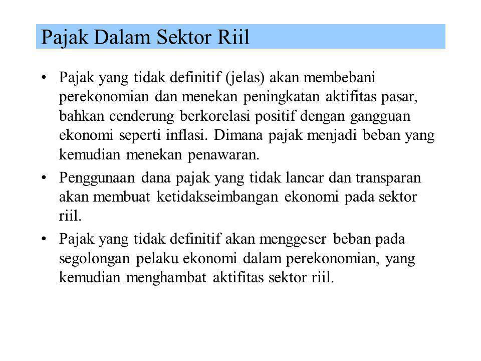Pajak Dalam Sektor Riil