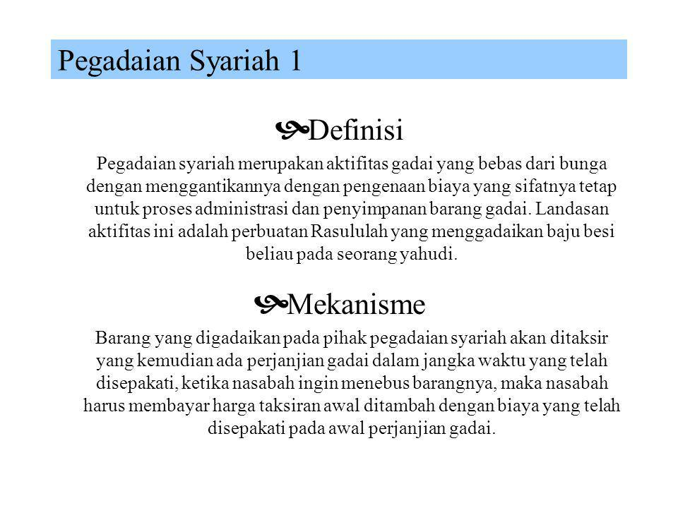 Pegadaian Syariah 1 Definisi Mekanisme