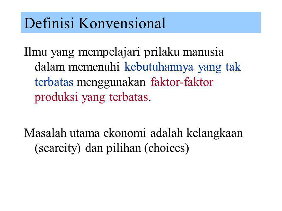 Definisi Konvensional