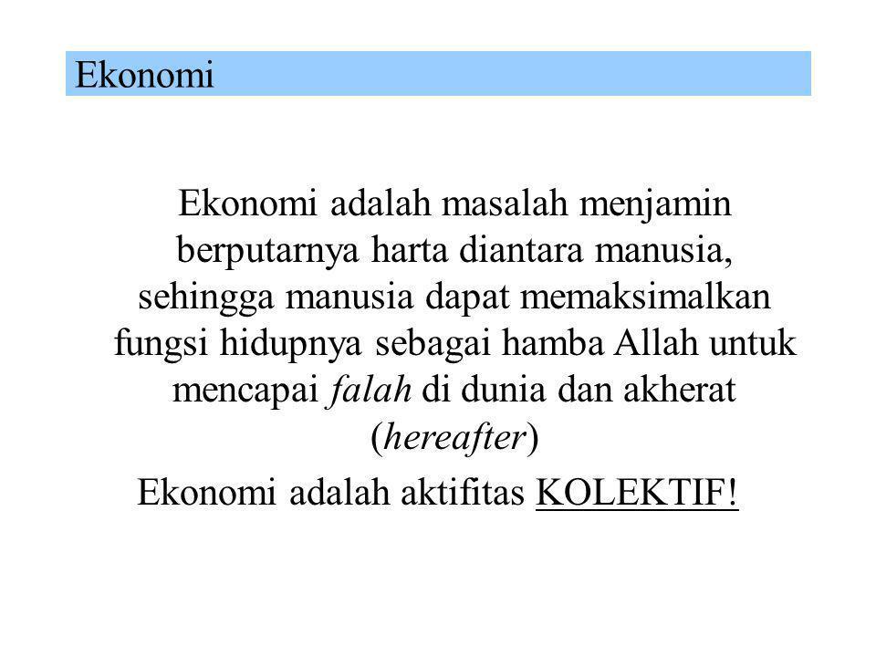 Ekonomi adalah aktifitas KOLEKTIF!