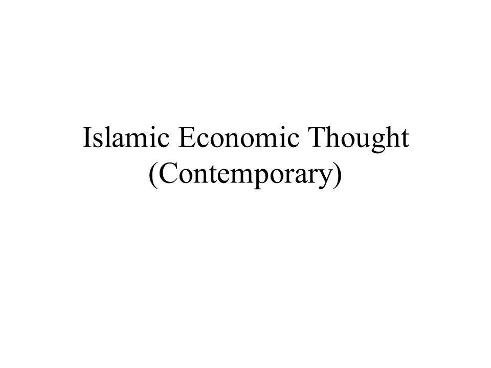 Islamic Economic Thought (Contemporary)