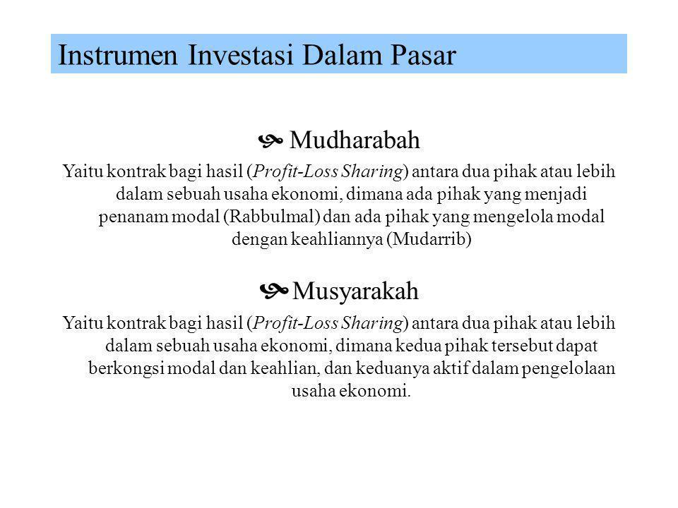 Instrumen Investasi Dalam Pasar