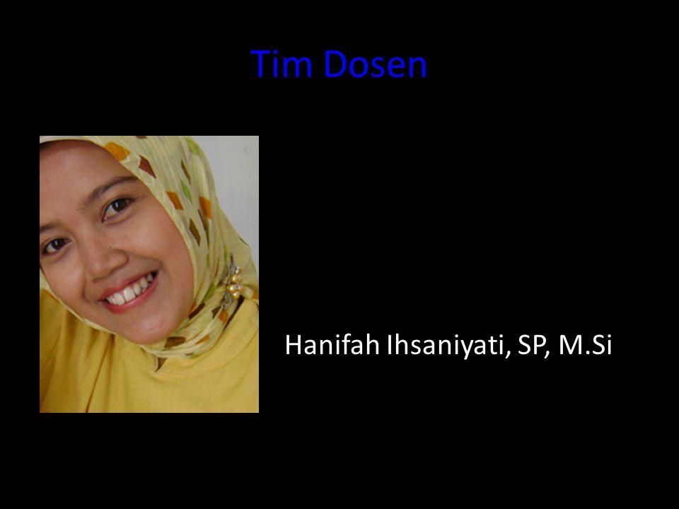 Tim Dosen Hanifah Ihsaniyati, SP, M.Si