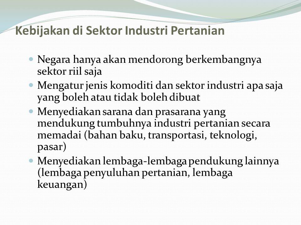 Kebijakan di Sektor Industri Pertanian