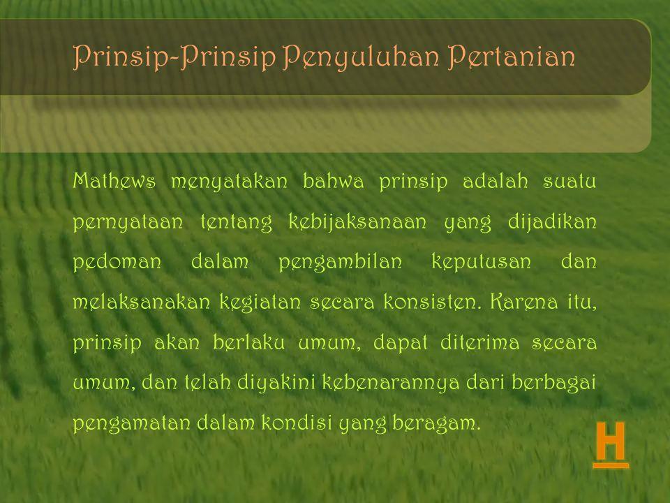 H Prinsip-Prinsip Penyuluhan Pertanian