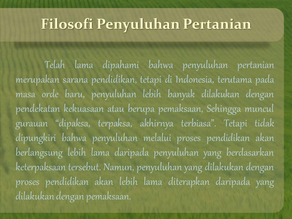 Filosofi Penyuluhan Pertanian