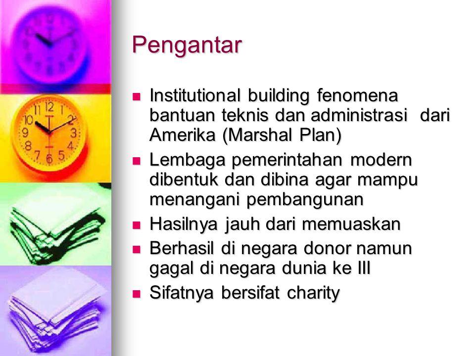 Pengantar Institutional building fenomena bantuan teknis dan administrasi dari Amerika (Marshal Plan)