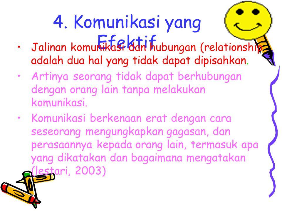 4. Komunikasi yang Efektif