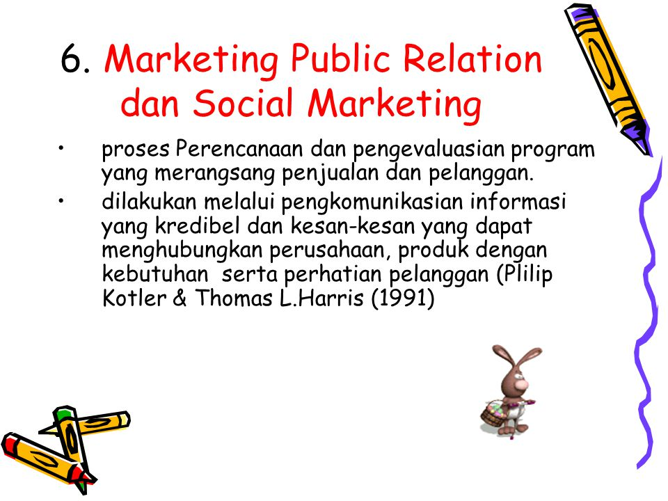 6. Marketing Public Relation dan Social Marketing