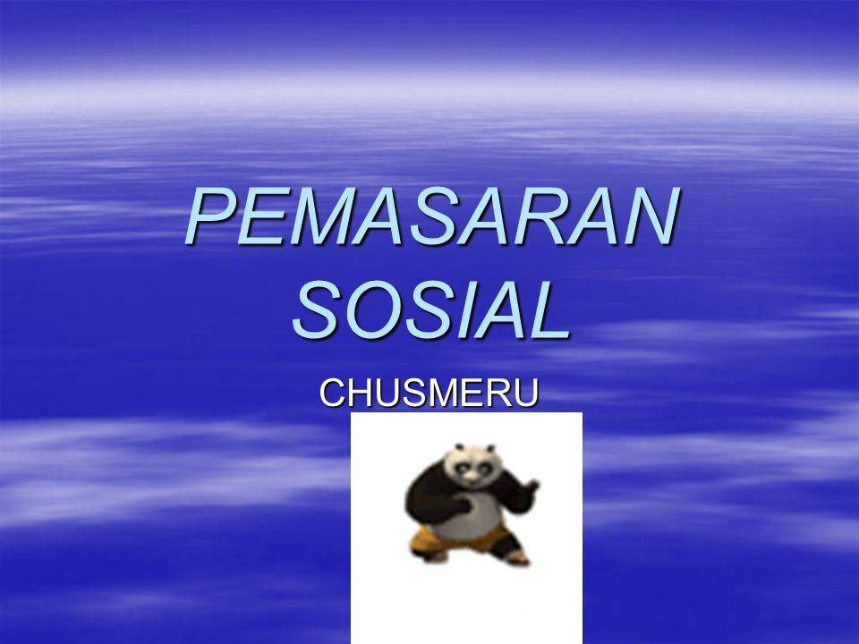 PEMASARAN SOSIAL CHUSMERU