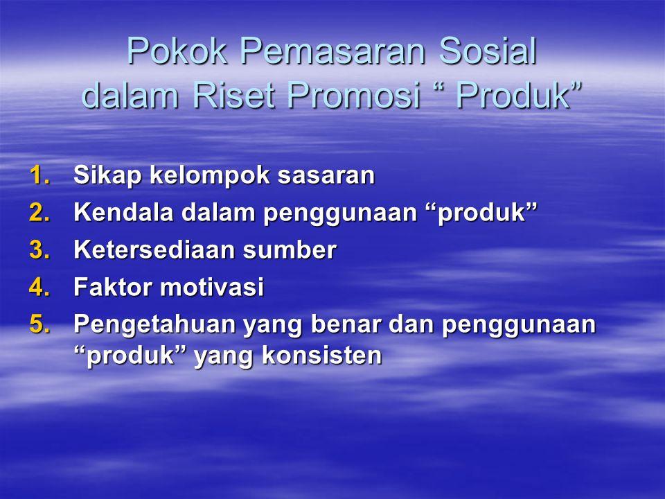 Pokok Pemasaran Sosial dalam Riset Promosi Produk