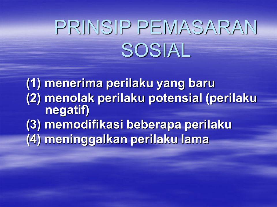 PRINSIP PEMASARAN SOSIAL