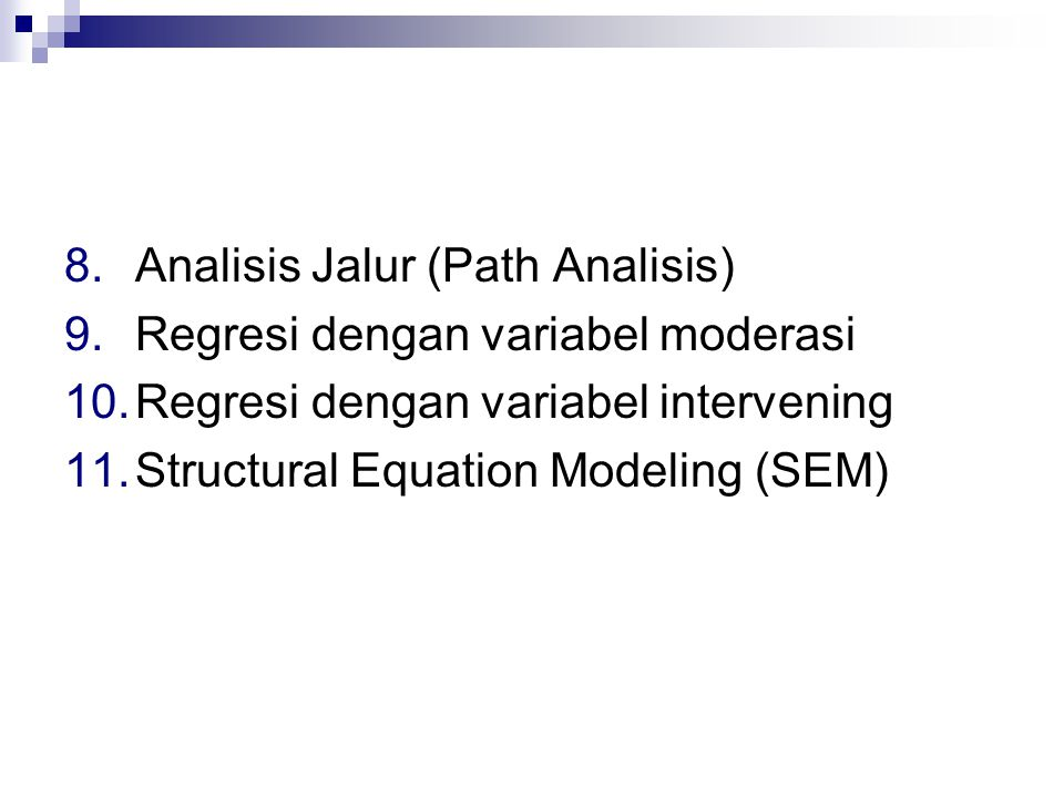 Analisis Jalur (Path Analisis)