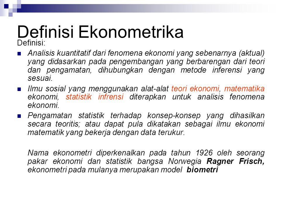 Definisi Ekonometrika