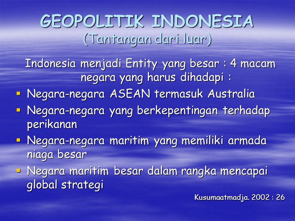GEOPOLITIK INDONESIA (Tantangan dari luar)