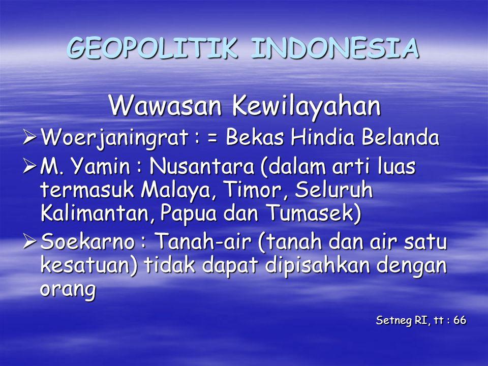 GEOPOLITIK INDONESIA Wawasan Kewilayahan