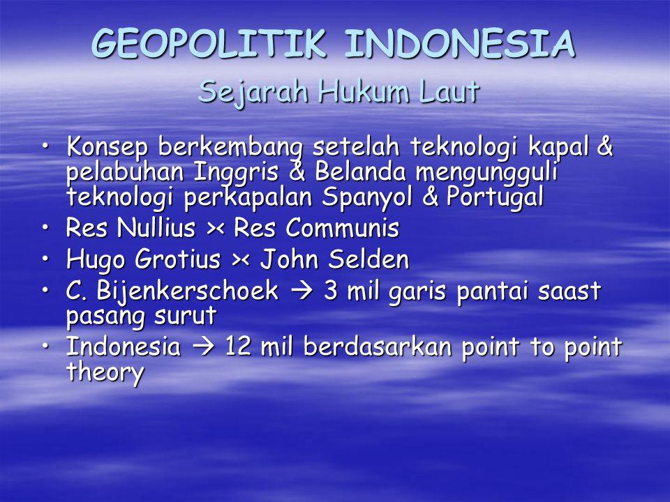 GEOPOLITIK INDONESIA Sejarah Hukum Laut