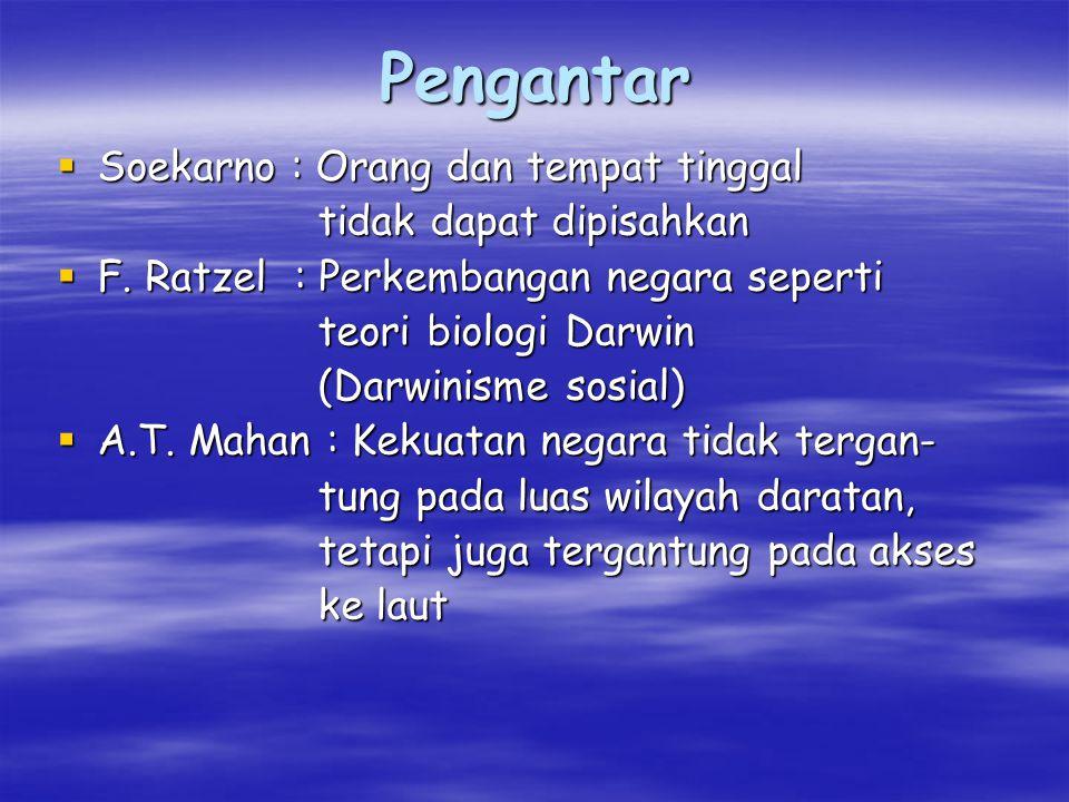 Pengantar Soekarno : Orang dan tempat tinggal tidak dapat dipisahkan