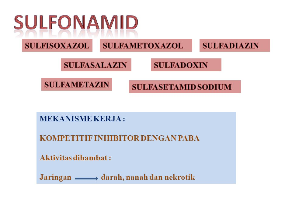 SULFONAMID SULFISOXAZOL SULFAMETOXAZOL SULFADIAZIN SULFASALAZIN