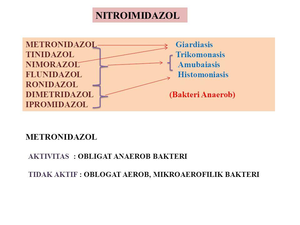NITROIMIDAZOL METRONIDAZOL Giardiasis TINIDAZOL Trikomonasis